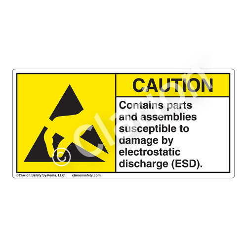 Caution/Contains Parts And Assemblies Label (H6131-C02EH)