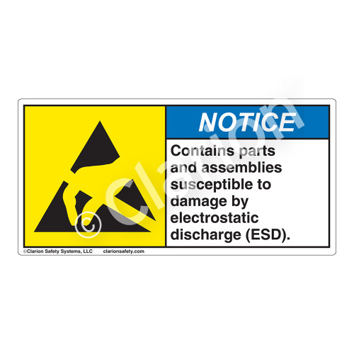 Notice/Contains Parts And Assemblies Label (H6131-C02NH)