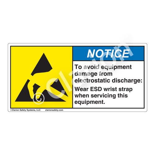 Notice/To Avoid Equipment Label (H6131-HWNH)