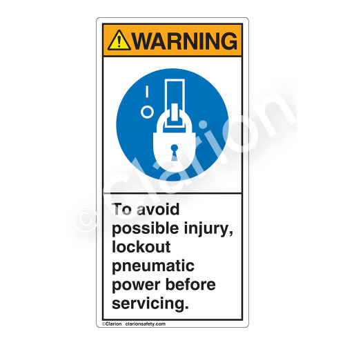 Warning/To Avoid Label (H6143-5CWV)