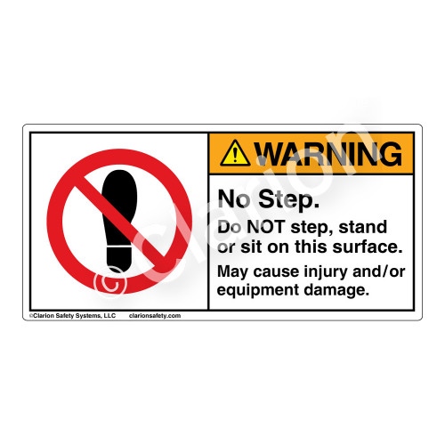 Warning/No Step Label (H6162-DY5WH)