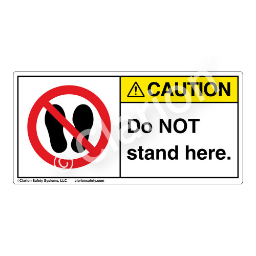 Caution/Do Not Stand Label (H6163-D55CH)