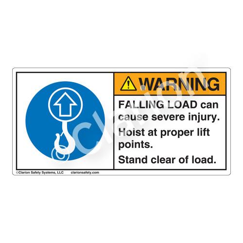 Warning/Falling Load Label (H6183-362WH)