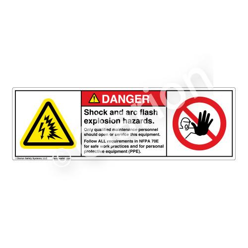 Danger/Shock & Arc Flash Label (H6643/6062-K87DH)
