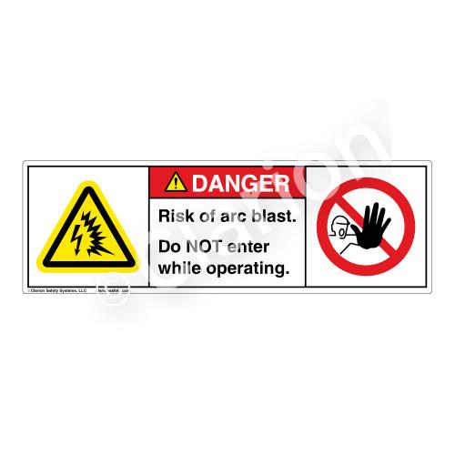 Danger/Arc Blast Risk Label (H6643/6062-W94DH)