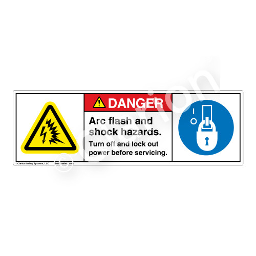 Danger/Arc Flash And Shock Label (H6643/6143-B06DH)