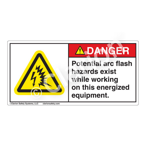 Danger/Potential Arc-Flash Label (H6643-9VDH)