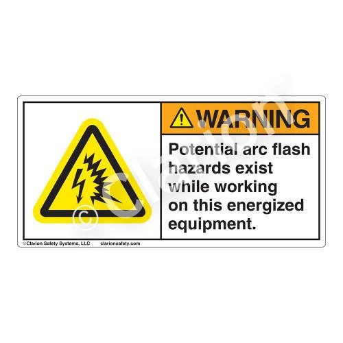 Warning/Potential Arc-Flash Label (H6643-9VWH)