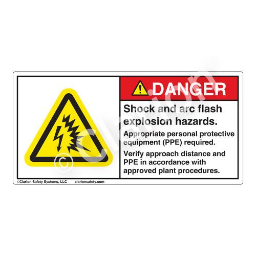 Danger/Shock And Arc Flash Label (H6643-K07DH)
