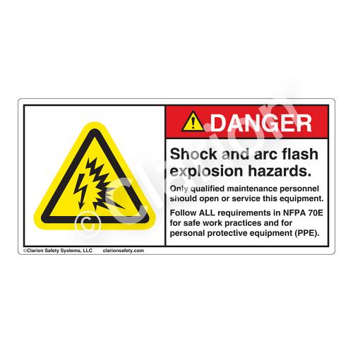 Danger/Shock & Arc Flash Label (H6643-K87DH)