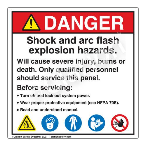 Danger/Shock and Arc Flash Label (HMS5-475DHP-)