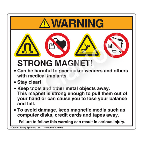 Warning/Strong Magnet Label (HMS-824WHP-)