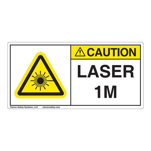 Caution/Laser Radiation Class 1M Label (IEC1008-H)