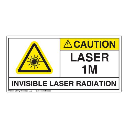 Caution/Invisible Laser Radiation Class 1M Label (IEC1009-H)