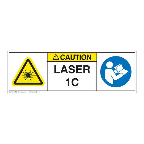 Caution/Laser Radiation Class 1C Label (IEC1011-H)