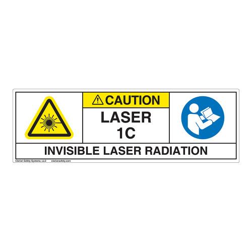 Caution/Invisible Laser Radiation Class 1C Label (IEC1012-H)