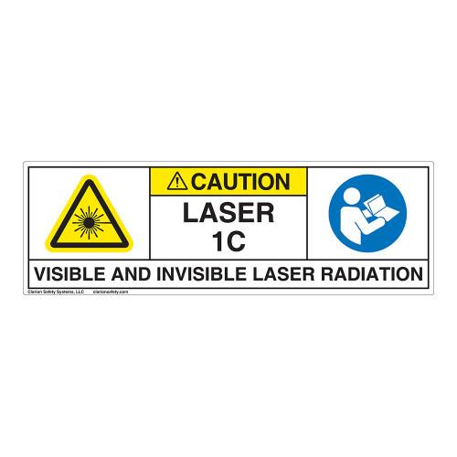 Caution/Visible & Invis Laser Radiation Class 1CLabel (IEC1013-)