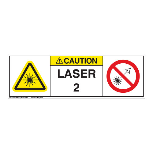 Caution/Laser Radiation Class 2 Label (IEC2007-H)