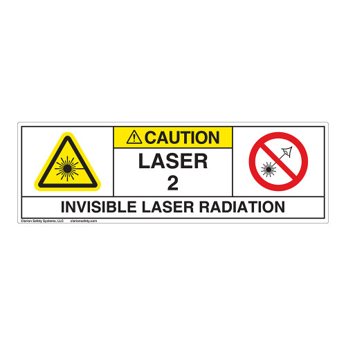 Caution/Invisible Laser Radiation Class 2 Label (IEC2008-H)