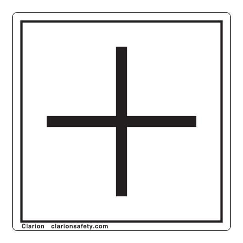 Plus/Positive Polarity Label (IEC5005a-)