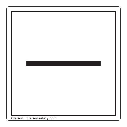 Minus/Negative Polarity Label (IEC5006a-)