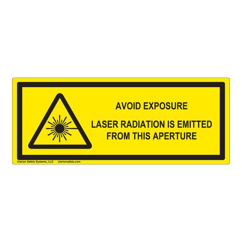 Avoid Exposure Label (IEC-6003-E71-H)
