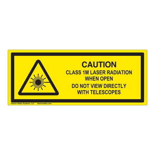 Caution Class 1M Laser Label (IEC-6003-E73-H)