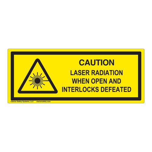 Caution/Laser Radiation Class 1 Label (IEC-6003-E80-H)