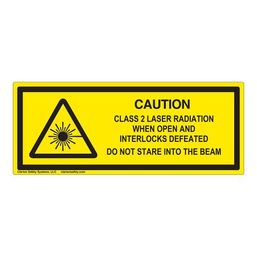 Caution/Class 2 Laser Radiation Label (IEC-6003-E82-H)