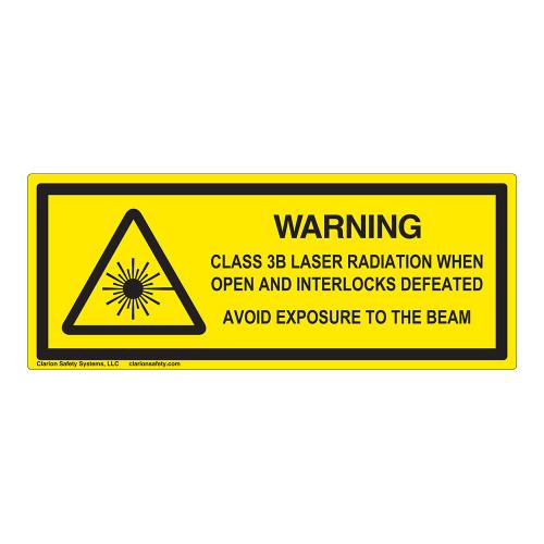 Warning/Class 3B Laser Label (IEC-6003-E86-H)