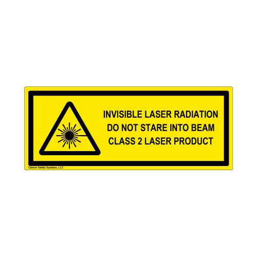 Invisible Laser Radiation Class 2 Label (IEC-6003-E89-H)