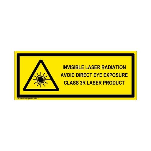 Invisible Laser Class 3R Label (IEC-6003-E91-H)