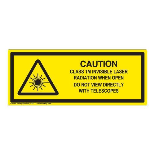 Caution/Invisible Class 1M Laser Label (IEC-6003-E96-H)