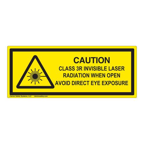 Caution/Class 3R Invisible Laser Label (IEC-6003-E99-H)