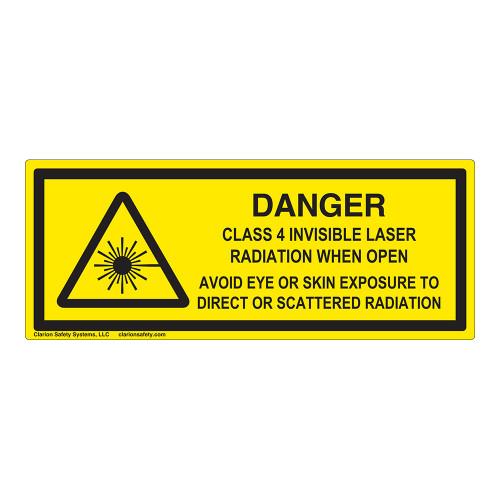 Danger/Class 4 Invisible Laser Label (IEC-6003-F03-H)