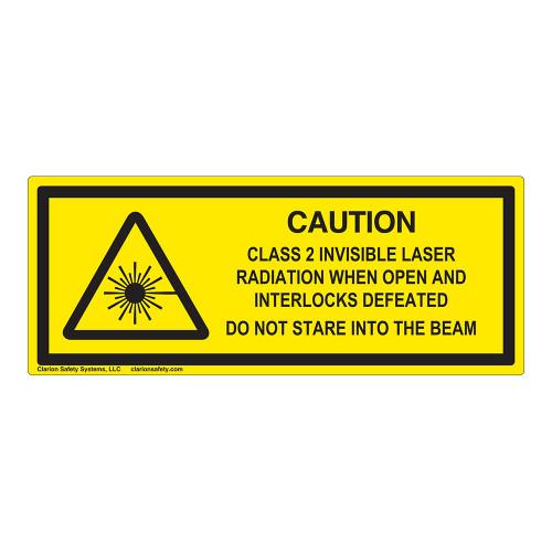 Caution/Class 2 Invisible Laser Label (IEC-6003-F06-H)