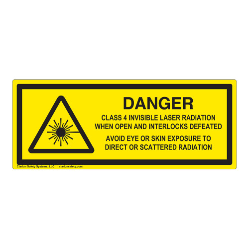 Danger/Class 4 Invisible Laser Label (IEC-6003-F11-H)