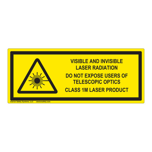 Visible And Invisible Class 1M Label (IEC-6003-F12-H)