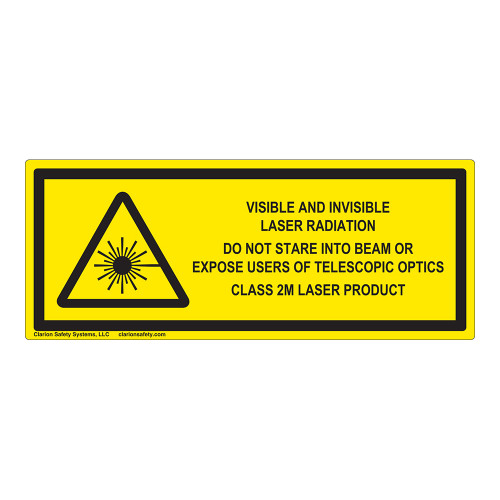 Visible and Invisible Class 2M Label (IEC-6003-F14-H)