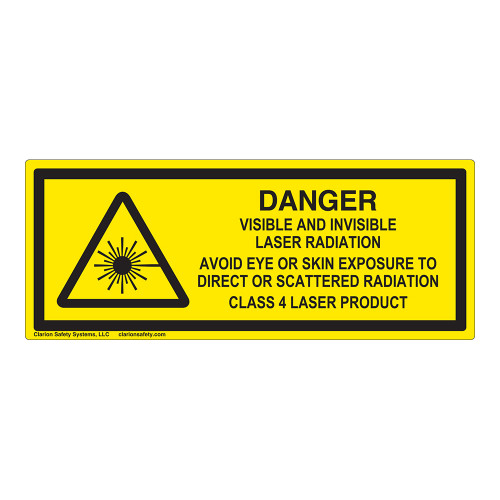 Danger/Visible & Invisible Laser Class 4Label (IEC-6003-F18-)