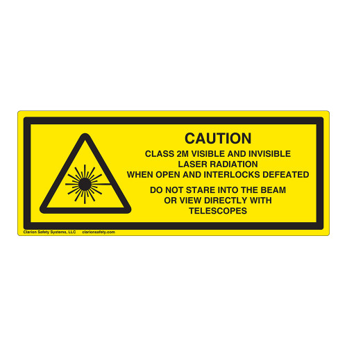 Caution/Class 2M Visible And Invisible Label (IEC-6003-Y53-H)