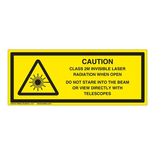 Caution/Class 2M Invisible Laser Label (IEC-6003-Y54-H)