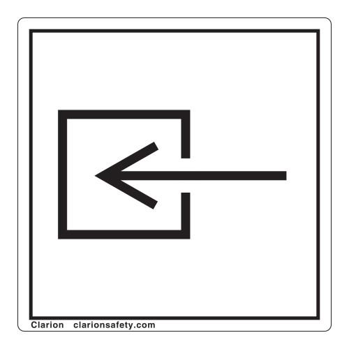 Input/Entrance Non-Electrical Label (IEC70794-)