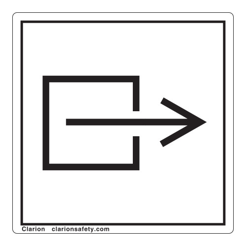 Output/Exit Non-Electrical Label (IEC70795-)