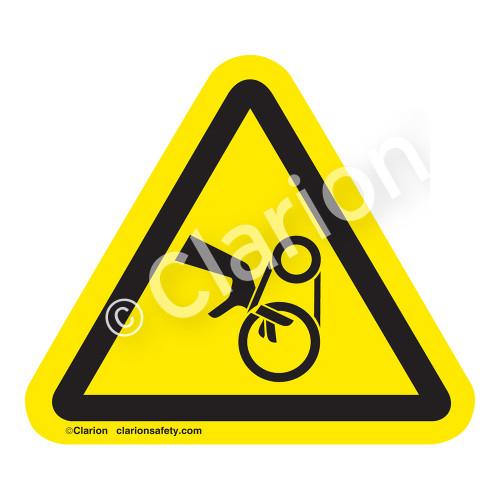 Hand Entanglement/Belt Drive Label (IS1011-)