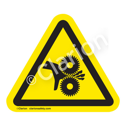 Cutting of Fingers/Rotating Blades Label (IS1026-)
