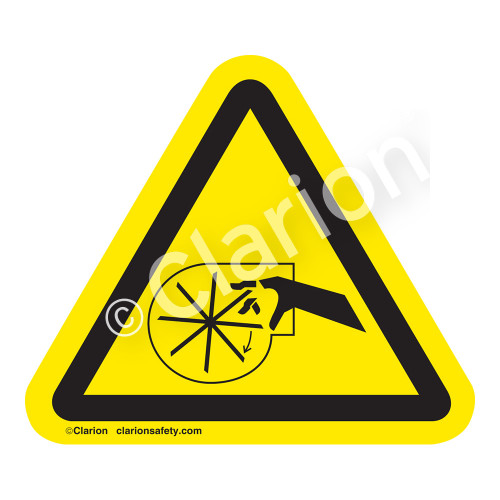Cutting of Fingers Or Hand/Rotating Blade Label (IS1027-)