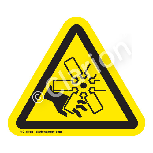 Cutting of Fingers Or Hand/Engine Fan Label (IS1047-)