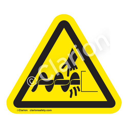 Cutting of Fingers Or Hand/Auger Label (IS1050-)