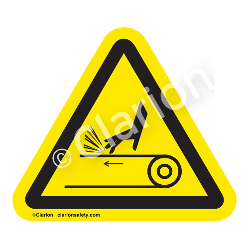 Hand Abrasion/Belt Drive Label (IS1095-)